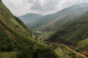The hamlet of Santa Lucia in Ituango, Antioquia, July 2016
