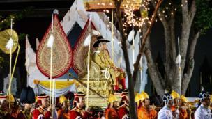 King Maha Vajiralongkorn takes part in the Royal Land Procession