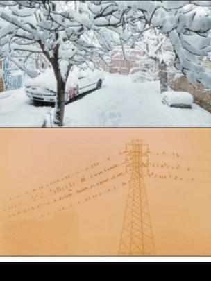 روزنامههای تهران، آلودگی هوای جنوب، برف در شمال