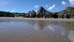 Three Cliffs Bay on Gower