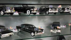 अमरीकी राष्ट्रपतियों की अलग-अलग कारों का डायकॉस्ट मॉडल