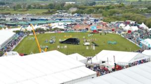 The Balmoral Show horse-jumping grounds