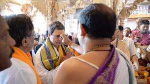 દ્વારકાધીશ મંદિરમાં રાહુલ ગાંધી