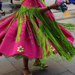 Bailarina en España.