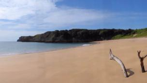 Beautiful solitude on Pembrokeshire's Barafundle Bay, captured by Jeanette Garland