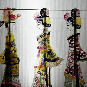Marionetas del teatro de sombras