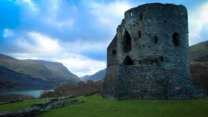 Dolbadarn Castle, in Llanberis, Gwynedd