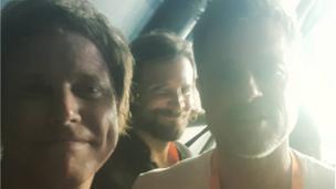 Brad Pitt, Bradley Cooper and Chris Simmons