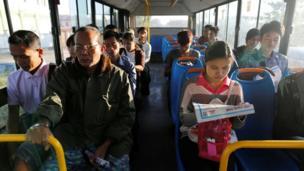 รถเมล์ในเมืองย่างกุ้ง