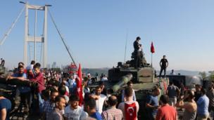Танк у моста через Босфор
