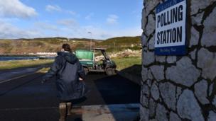 Polling station in Rathlin Island