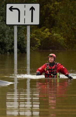 أمطار غزيرة تضرب أجزاء في شمالي إنجلترا