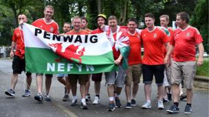 Wales supporters from Nefyn in Gwynedd were at the game in Lens