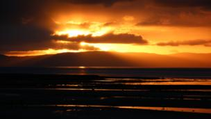 Sunset over Arran
