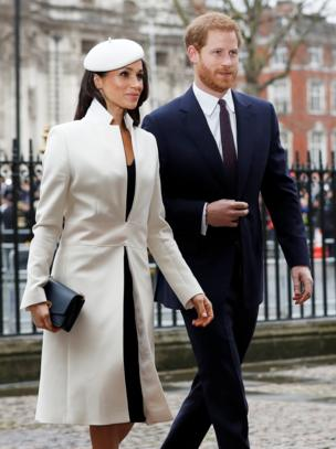 Meghan and Harry arrive at Westminster Abbey