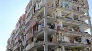 A damaged building is seen following an earthquake in Sarpol-e Zahab county in Kermanshah, Iran November 13, 2017