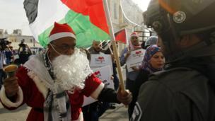 以色列和巴勒斯坦的冲突在圣诞期间仍没有缓和