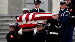 George HW Bush's casket