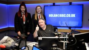 Two Young Reporters in the Nolan studio