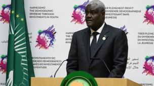 Le Tchadien Moussa Faki Mahamat, élu en janvier, a pris fonction mardi en tant que président de la Commission de l'Union africaine (UA) pour un mandat de quatre ans.