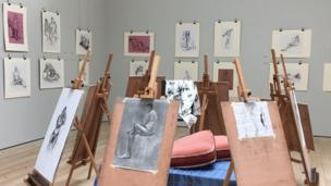 Judy Powell: Exhibition of life drawings at The Cornerstone Arts Centre in Didcot