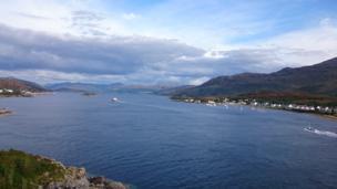 View from the Skye bridge