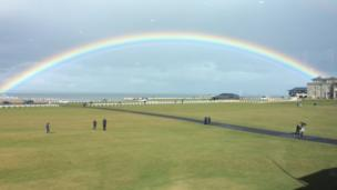 Rainbow at St Andrews