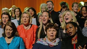 Politicians singing