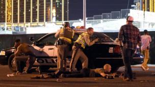 लास वेगास गोळीबारानंतरचा पोलीस बंदोबस्त