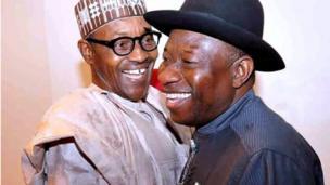 Muhammadu Buhari to dije labẹ ẹgbẹ oselu APC ati Goodluck Jonathan to dije fẹgbẹ PDP di mọ ara wọn