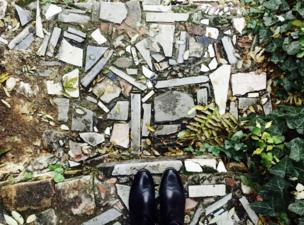 A path made up of misshaped paving stones