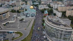 صلاة عيد الفطر في موسكو