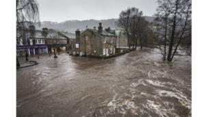 Floods on Boxing Day - Hebden Bridge, West Yorkshire, UK