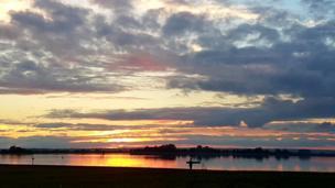 A beautiful sunset captured at Farmoor