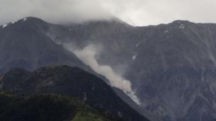 Landslide triggered by an aftershock in the Kaikoura mountain range (14 Nov 2016)