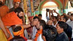 राहुल यांची मंदिर यात्रा.