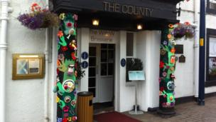 Yarnbomb at the The County