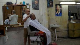 Havana'da bir berber