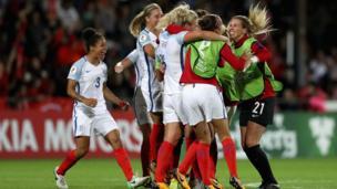 The England team