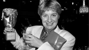 Victoria Wood in 1986 after winning a Bafta for best light entertainment programme