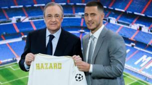 Hazard da shugaban Real Madrid