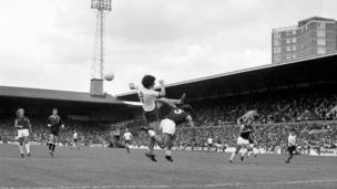 1975 of General match action at Upton Park between West Ham United and Burnley