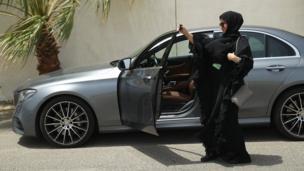 Tukin mota ga matan Saudiya