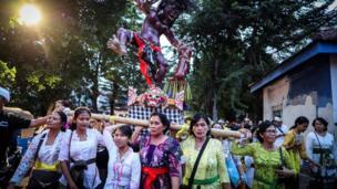 Bali, nyepi, ogoh-ogoh