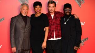 Tom Jones, Jennifer Hudson, Gavin Rossdale and Will.i.am