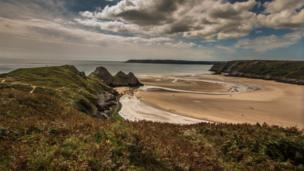 Three Cliffs Bay on the Gower Peninsula
