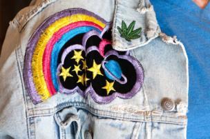 An embroidered denim jacket