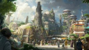Concept image of the new Star Wars theme park.