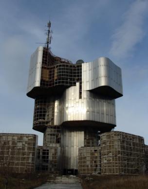 An empty modernist building