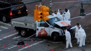 پولیس اس گاڑی کی جانچ کر رہی ہے جو مبینہ طور پر حملے میں استعمال کی گئی